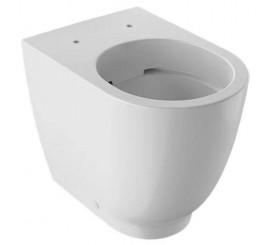 Geberit Acanto Vas WC Rimfree pe pardoseala 35x51 cm, lipit de perete