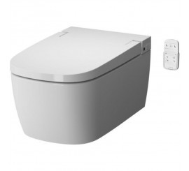 Vitra Metropole V-Care Smart Confort Set vas WC rimless suspendat, capac soft-close cu functie bideu, 38x60 cm