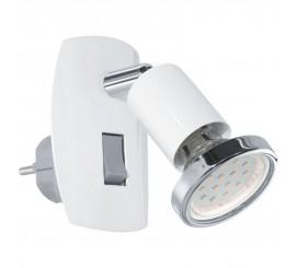 Eglo Mini 4 Aplica cu spot 1x3W, H10 cm, alb