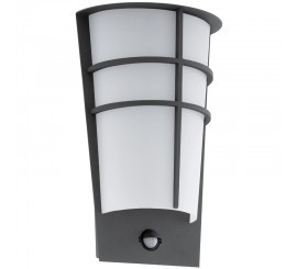 Eglo Breganzo 1 Aplica cu senzor pentru zi si noapte, 2x2.5W, alb/antracit