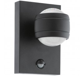 Eglo Sesimba 1 Aplica cu senzor pentru zi si noapte, 2x3.7W, negru