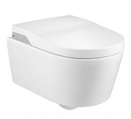 Roca Inspira In-Wash Vas WC Rimless suspendat, cu functie de bideu, 39x56 cm