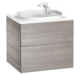 Roca Unik Beyond Set mobilier de baie cu 2 sertare si lavoar, 60x50xH52 cm, stejar inchis (city oak)
