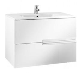 Roca Victoria-N Set mobilier de baie cu lavoar 80 cm, alb