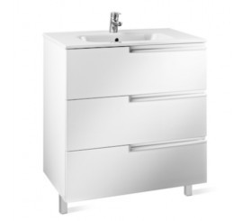 Roca Victoria-N Unik Family Set mobilier cu lavoar 80 cm, alb lucios