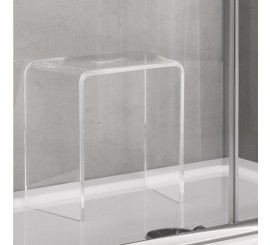 Glass Scaunel dus transparent 39x22 cm