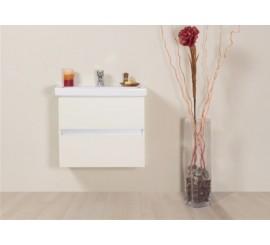 Arthema Frame Set Promo mobilier de baie 2 sertare si lavoar 60 cm, alb mat