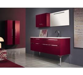 Arthema Vanity Line Set mobilier 161x50xH86 cm, bordeaux