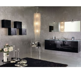Arthema Vanity Line Set mobilier 177x50xH53 cm, negru