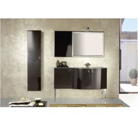 Arthema Vanity Twist Set mobilier 136x50xH86 cm, maro inchis