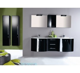 Arthema Vanity Twist Set mobilier 177x50xH54 cm, negru