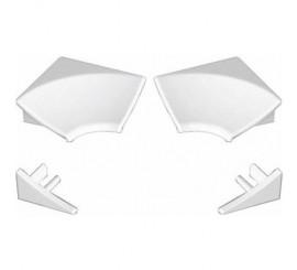 Ravak Set coltare si capace pentru profil de mascare 11 mm, alb