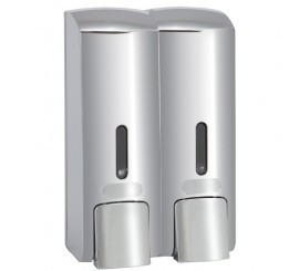 Bemeta Hotel Dispenser dublu sapun lichid 600 ml, crom