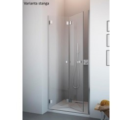 Radaway Carena DWB Usa dus plianta 90 cm, montaj in nisa, sticla transparenta