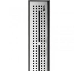 Tece Drainline Grila ornament design Quadratum din inox mat, 150 cm