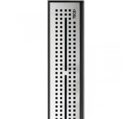 Tece Drainline Grila ornament design Quadratum din inox mat, 80 cm