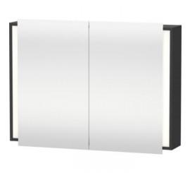 Duravit Ketho Dulap suspendat cu oglinda 100x18xH75 cm, 2 usi, gri Graphite Matt