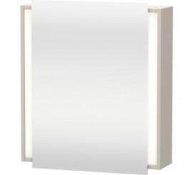 Duravit Ketho Dulap suspendat cu oglinda 65x18xH75 cm, 1 usa, deschidere stanga, crem Taupe