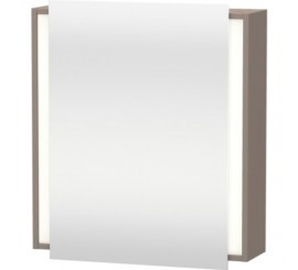 Duravit Ketho Dulap suspendat cu oglinda 65x18xH75 cm, 1 usa, deschidere stanga, gri Basalt Matt