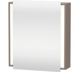Duravit Ketho Dulap suspendat cu oglinda 65x18xH75 cm, 1 usa, deschidere dreapta, gri Basalt Matt