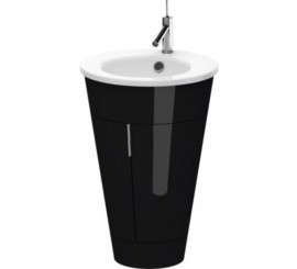 Duravit Starck Mobilier Vanity Ø56XH83 cm, negru lucios