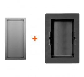 Easy Drain ESS Container Box 10 Nisa perete 15x10xH30 cm, negru/rama crom lucios