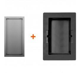 Easy Drain ESS Container Box 10 Nisa perete 15x10xH30 cm, negru/rama crom mat