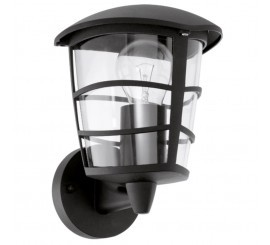 Eglo Aloria Aplica verticala orientata in sus, 1x60W, negru
