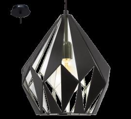 Eglo Carlton 1 Pendul 1x60W, negru/argintiu