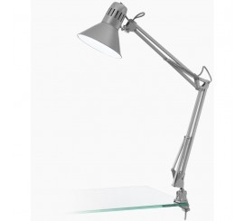 Eglo Firmo Lampa de birou cu clema 1x40W, gri