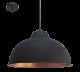 Eglo Truro 2 Pendul 1x60W, negru/cupru