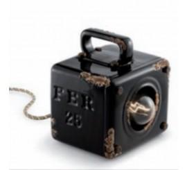 Ferroluce Retro Industrial Veioza portabila 1x77W, negru