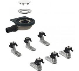 Geberit Set instalare pentru cadite dus Setaplano cu 6 picioare, iesire laterala Ø5 cm