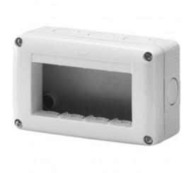 Gewiss 27 Combi Carcasa aparenta pentru 4 module, IP40, gri