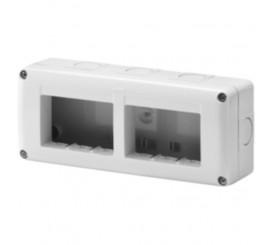 Gewiss 27 Combi Carcasa aparenta pentru 6 module, IP40, gri