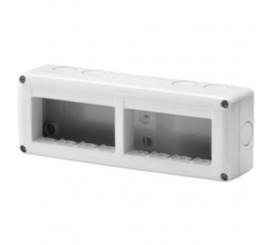 Gewiss 27 Combi Carcasa aparenta pentru 8 module, IP40, gri