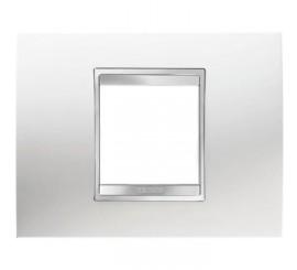 Gewiss Chorus Lux Rama decorativa pentru 2 module, alb, tehnopolimer