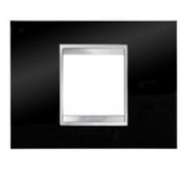 Gewiss Chorus Lux Rama decorativa pentru 2 module, negru, tehnopolimer
