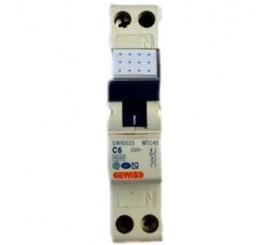 Gewiss Compact MCB Siguranta automata faza+nul 6A
