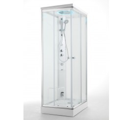 Glass Archimede Steam Cabina de dus patrata 100x100 cm