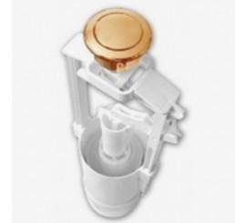 Globo Mecanism spalare vas WC, alimentare jos, buton bronz