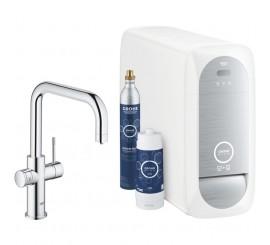 Grohe Blue Home Ondus Baterie de bucatarie cu sistem de filtrare, racire si acidulare, pipa U, crom