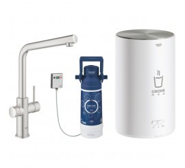 Grohe Red Duo Baterie de bucatarie cu pipa tip L si boiler, marime M, aspect inox (supersteel)
