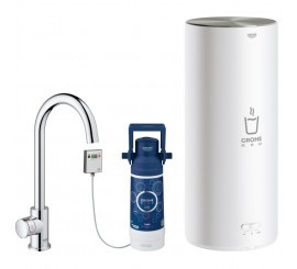 Grohe Red Mono Robinet de bucatarie cu pipa tip C si boiler, marime L, crom
