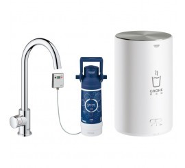 Grohe Red Mono Robinet de bucatarie cu pipa tip C si boiler, marime M, crom