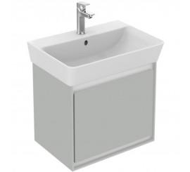 Ideal Standard Connect Air Mobilier pentru lavoar Cube cu 1 sertar 44x40xH40 cm, gri lucios/alb mat