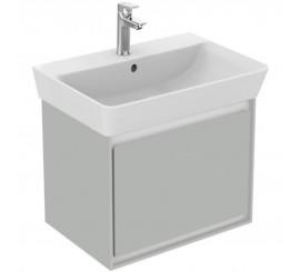 Ideal Standard Connect Air Mobilier pentru lavoar Cube cu 1 sertar 49x41xH40 cm, gri lucios/alb mat