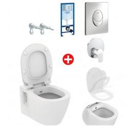Ideal Standard/ Grohe Set Promo Vas WC suspendat cu functie de bideu, complet echipat