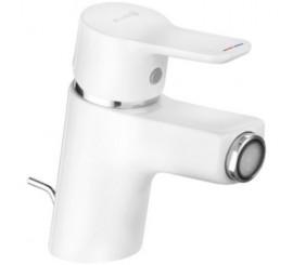Kludi Pure&Easy Baterie bideu cu ventil pop-up metalic, alb