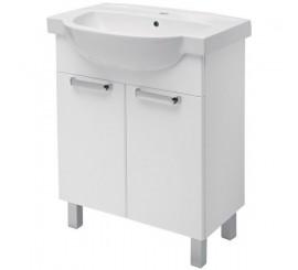 Kolo Freja Set mobilier si lavoar de 55 cm, alb lucios